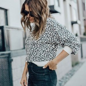 Z supply Leopard Pullover